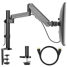 VESA Monitor Mount Stand - Adjustable Single Arm Desk