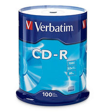 Verbatim CD-R 700MB 80 Minute 52x Recordable Disc - 100 Pack Spindle