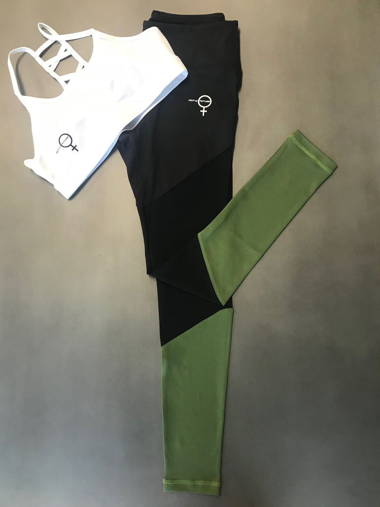 Alpha Ninja Tights - Camo Green