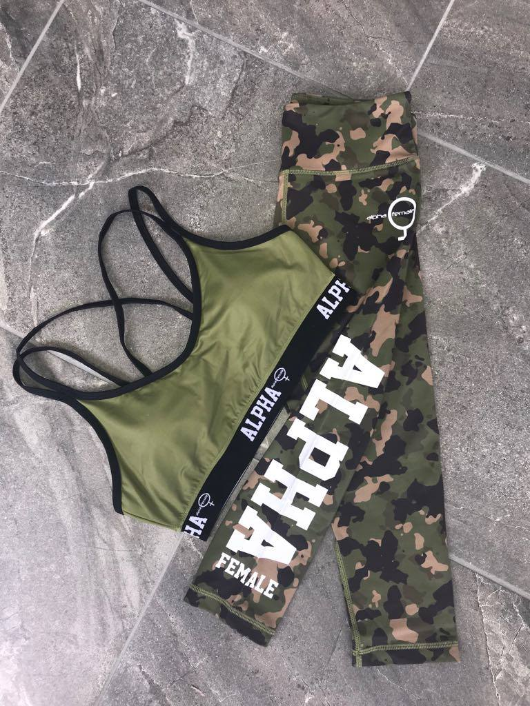 ALPHA Crop Camo Green