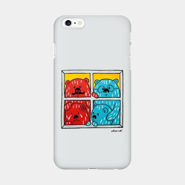 A Rainy Day - Cute iPhone Case Picograph Noranubi Smartphone Case