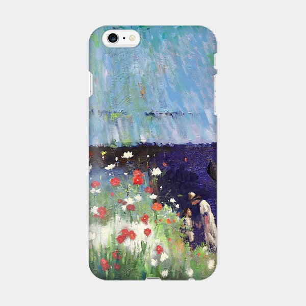 Mother_Daughter Walking 2 - Abstract iPhone Case Picograph Hyunn1101 Smartphone Case