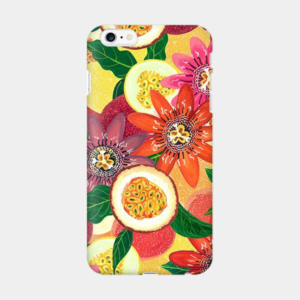 Passion Fruit Market - Floral Flower iPhone Case Picograph YoannaLee_ Smartphone Case