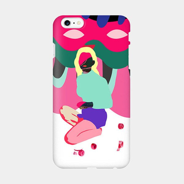 80's Girl - Funky Vintage Style Rollerskating iPhone Case Picograph Designers Republic Seodu Smartphone Case