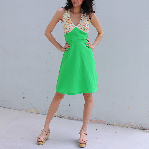 Green Glades Halter Dress (20% OFF)