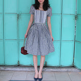 Madlyn Blue Checked Dress (25% OFF)