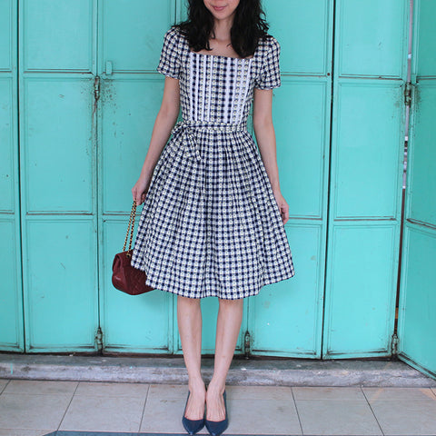 Madlyn Blue Checked Dress