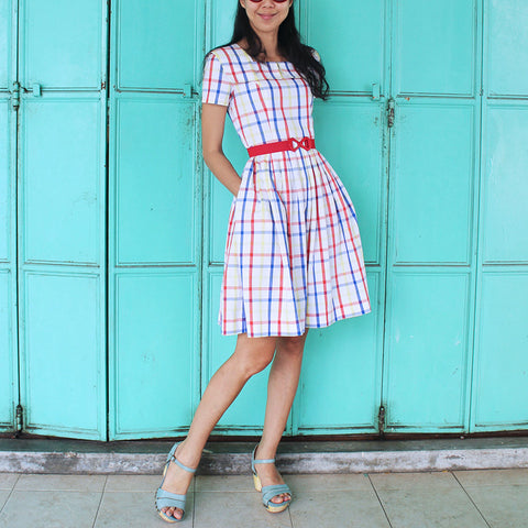 Peggy Sue Checked Dress