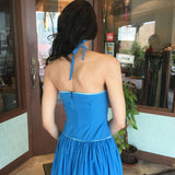 Hawaiian Blue Halter Dress