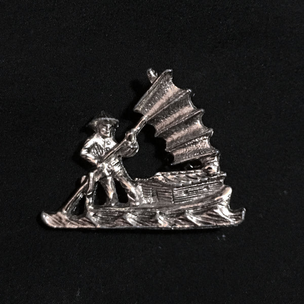 Chinese Boat Brooch