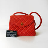 Chanel Red Lambskin Bag