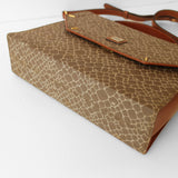 Brown Giraffe Print Two- Way Bag