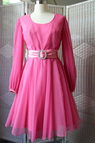 Fuchsia Chiffon Dress (50% OFF)