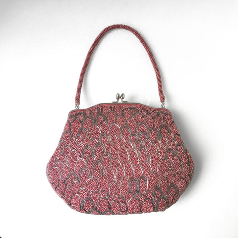 Berry Beaded Bag