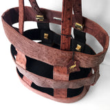 Caged Tote in Ostrich Leather