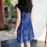 Midnight Florals Dropwaist Dress