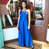 Electric Blue Maxi Dress