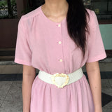 Powder Pink Embroidered Dress (20% OFF)