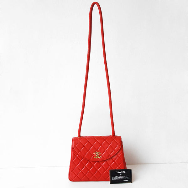 Chanel Red Lambskin Bag (10% OFF)