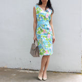 Blue Spring Blossom Dress