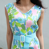 Blue Spring Blossom Dress (50% OFF)