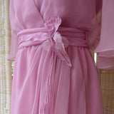 Dusky Pink Chiffon Maxi Dress