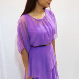 African Violet Tiered Maxi Dress