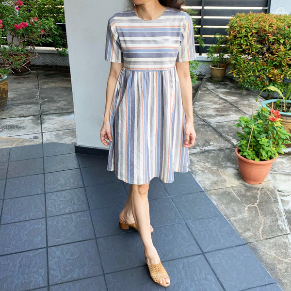 Babydoll Striped Dress