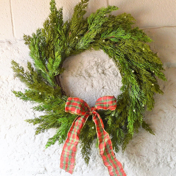 Faux Holiday Wreaths