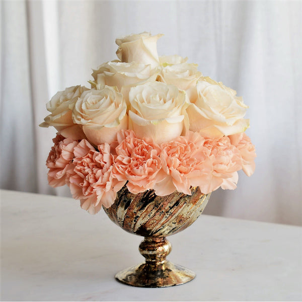 Biedermeier Flower Arrangement | Pink Rose Arrangement | Pink Carnations | Biedermeier Design