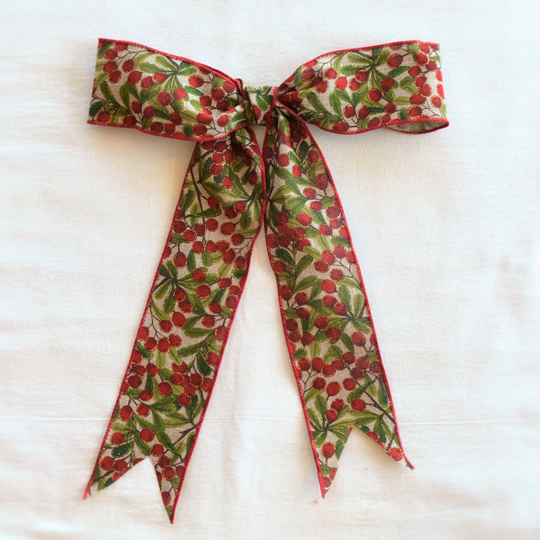 Berry Christmas Bow | Wreath Bow | Garland Bow | Christmas Ribbon | Christmas Bow