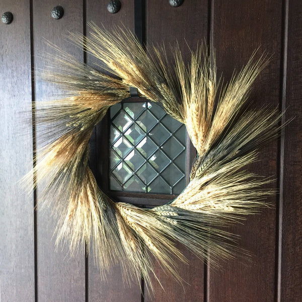 Harvest Wheat Wreath | Wheat Wreath for Fall | Dried Wheat Wreath | Preserved Wheat Wreath | Golden Wheat Wreath | Blond Wheat Wreath