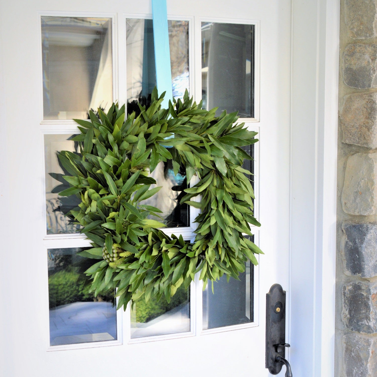 ... California Bay And Brunia Square Wreath   Club Botanic
