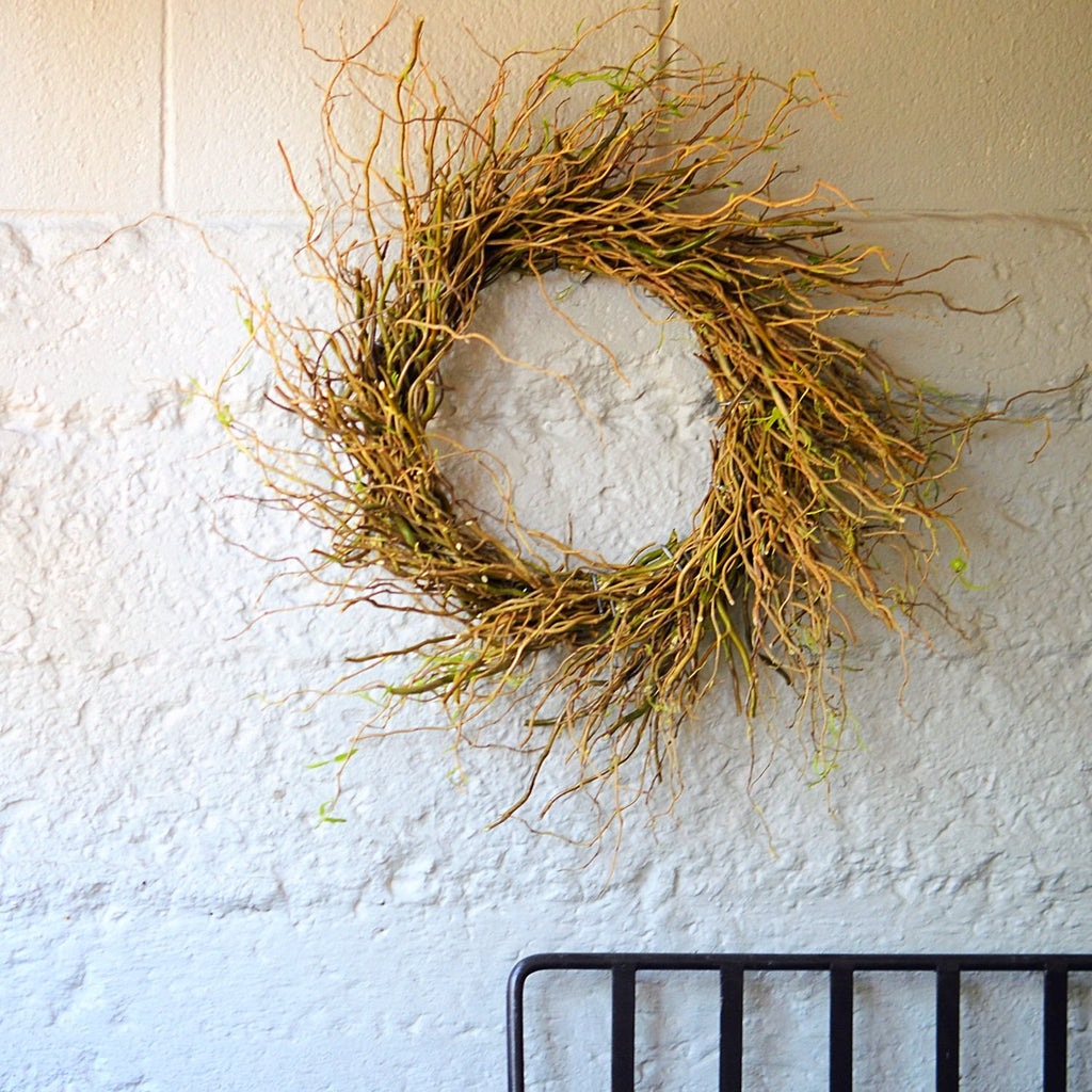 Curly Willow Wreath for Summer | Dry Wreath for Summer | Twig Wreath