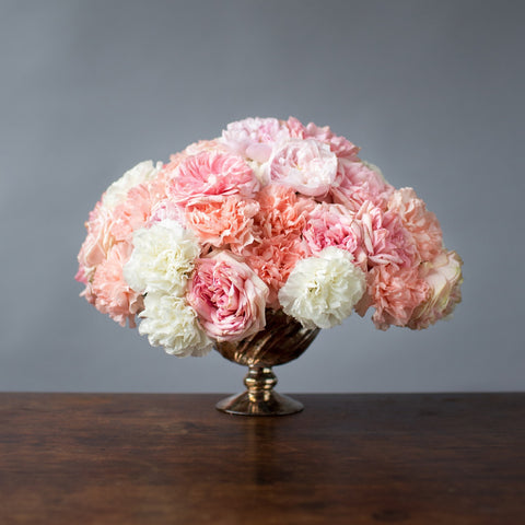 Pink Roses and Carnations for Valentine's Day
