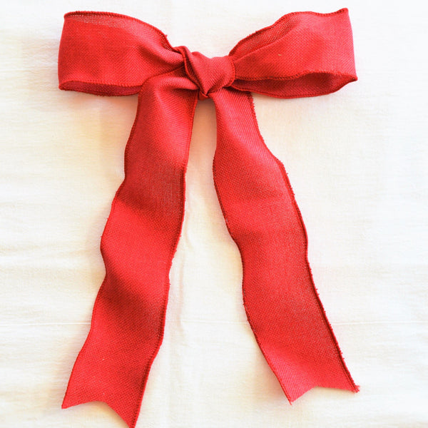 Essential Red Bow | Christmas Bow | Holiday Bow | Wreath Bow | Garland Bow | Wreath Ribbon | Christmas Ribbon