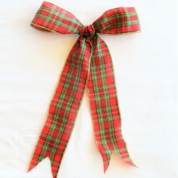 McDougall Plaid Bow | Wreath Bow | Garland Bow | Christmas Bow | Christmas Ribbon