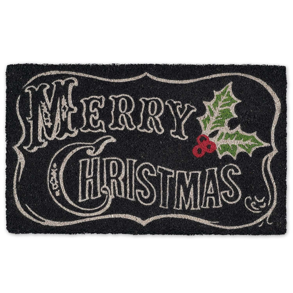 Merry Christmas Chalkboard Doormat - Club Botanic