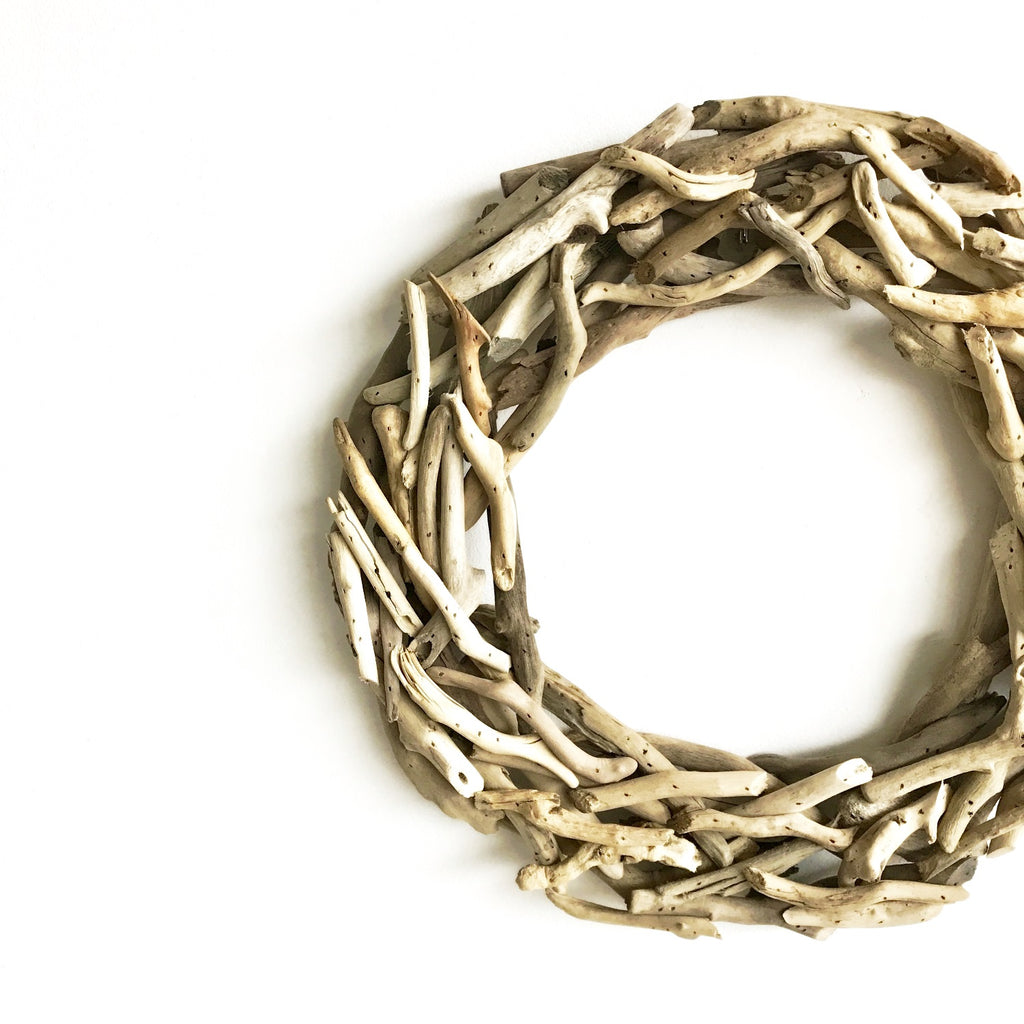 Drift Wood Wreath | Coastal Wood Wreath | Rustic Wreath | Natural Wood Wreath | Club Botanic