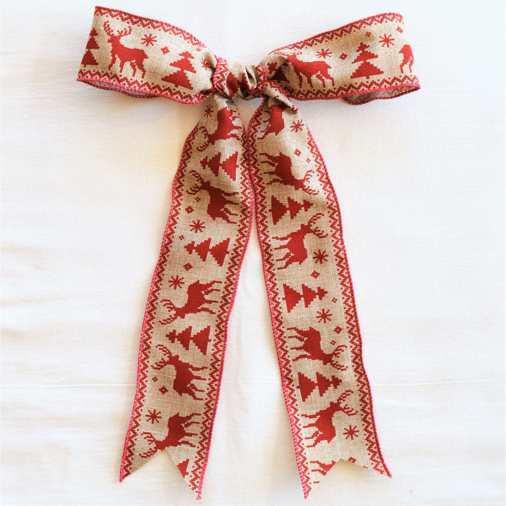 Nordic Frolic Bow | Christmas Bow | Wreath Bow | Garland Bow | Christmas Ribbon | Holiday Bow