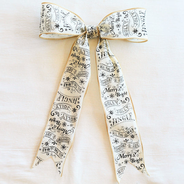 Old Tyme Christmas Bow | Wreath Bow | Garland Bow | Holiday Bow | Holiday Ribbon | Christmas Ribbon