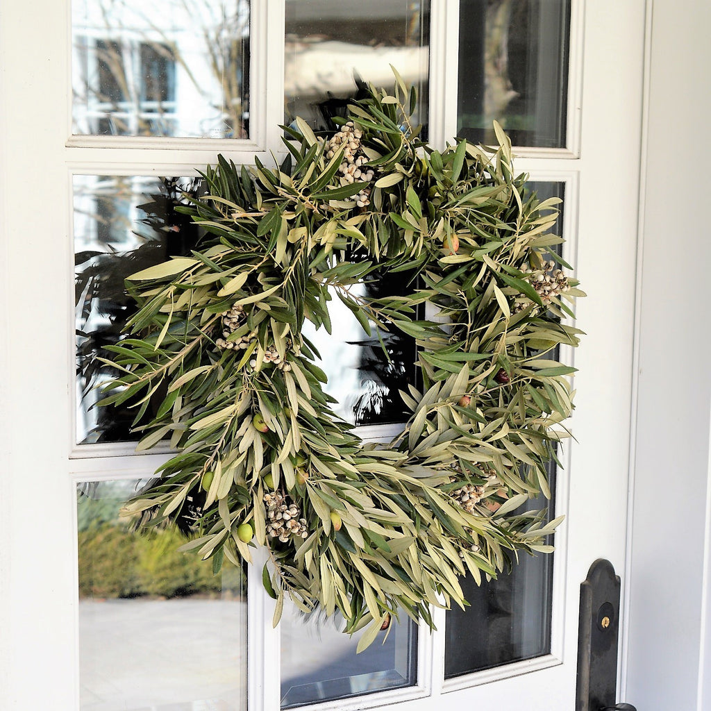 Olive Wreath | Holiday Wreaths for Front Door | Christmas Gifts | Fresh Wreaths for Christmas
