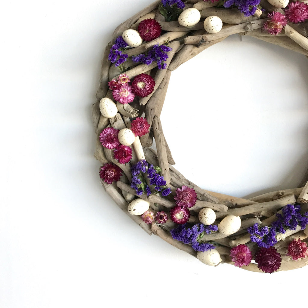 Pink Easter Wreath | Violet Easter Wreath | Purple Easter Wreath | Easter Floral Wreath