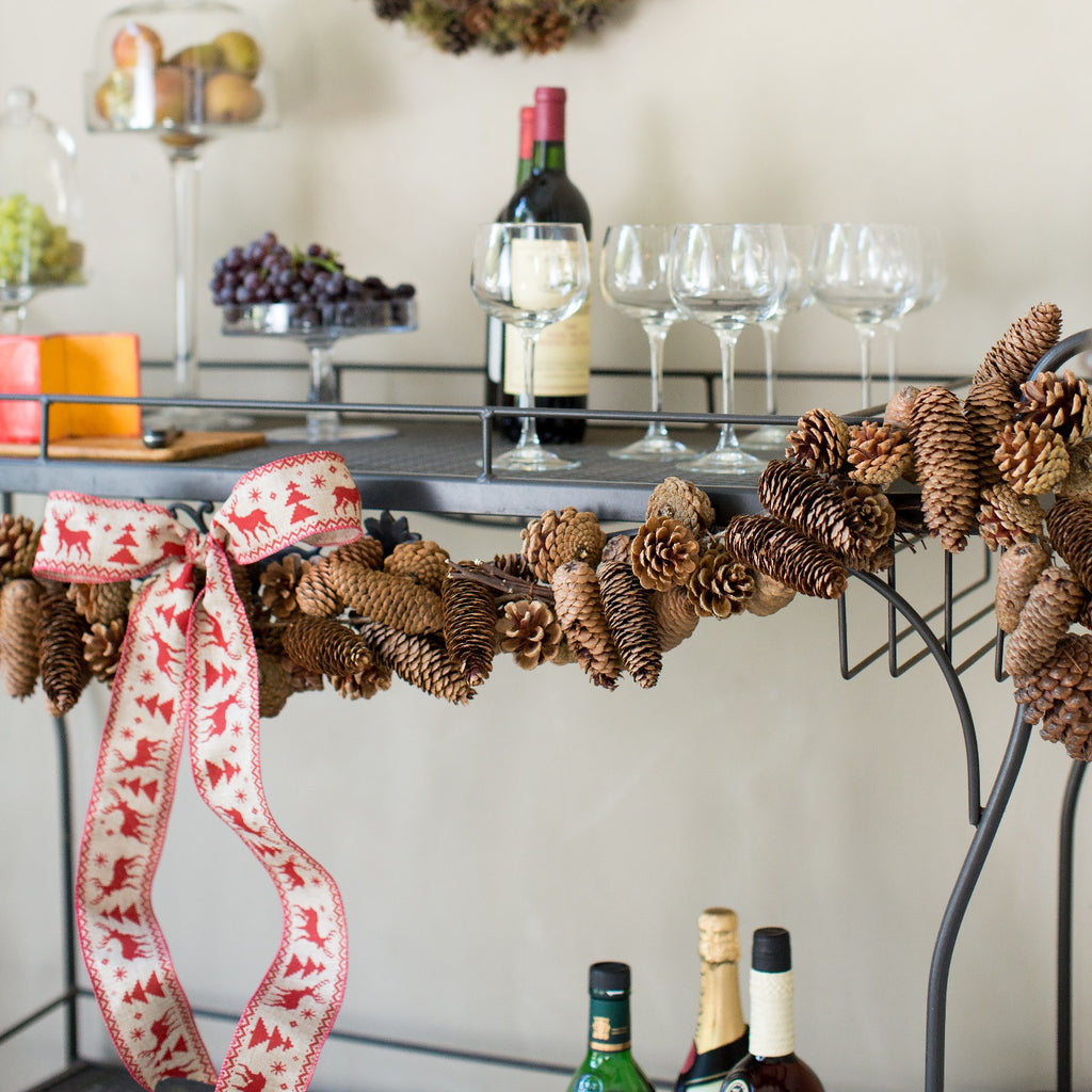 Pinecone Garland | Club Botanic | Christmas Garland Pinecone | Holiday Pinecone Garland | Real Pinecone Garland | Pine Cone Garland Christmas | Pine Cone Garland Holidays
