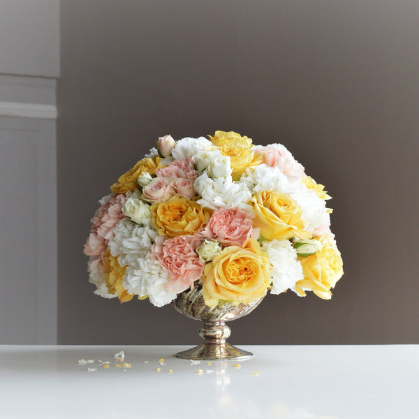 Yellow Roses | Pink Roses | Easter Flowers | Table Centerpiece | Anniversary Flowers
