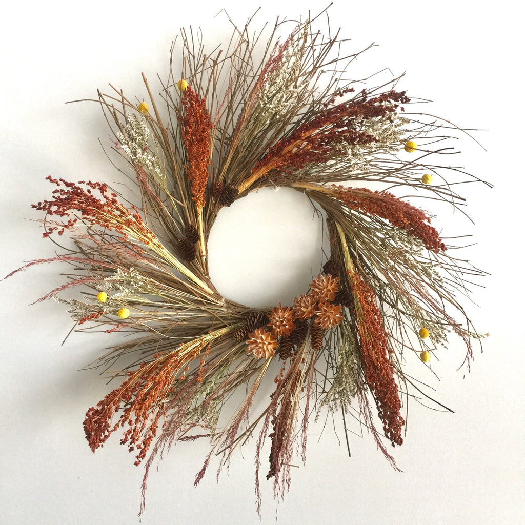 Fall door wreath | Wreath for fall | Preserved door wreath for fall | Dried wreath for autumn | dried door wreath for autumn | dry wreath for year round use | dry wreath for outdoors | dry wreath for indoors