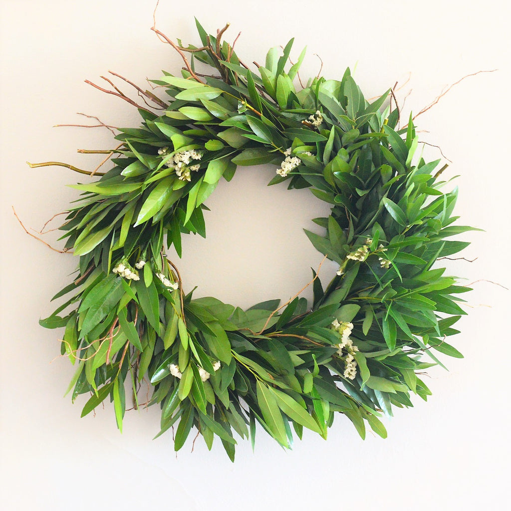 Dried Statice Wreath | Wreath Statice | Wreath Summer | Wreath Bay Leaf | Wreath Bay Leaves