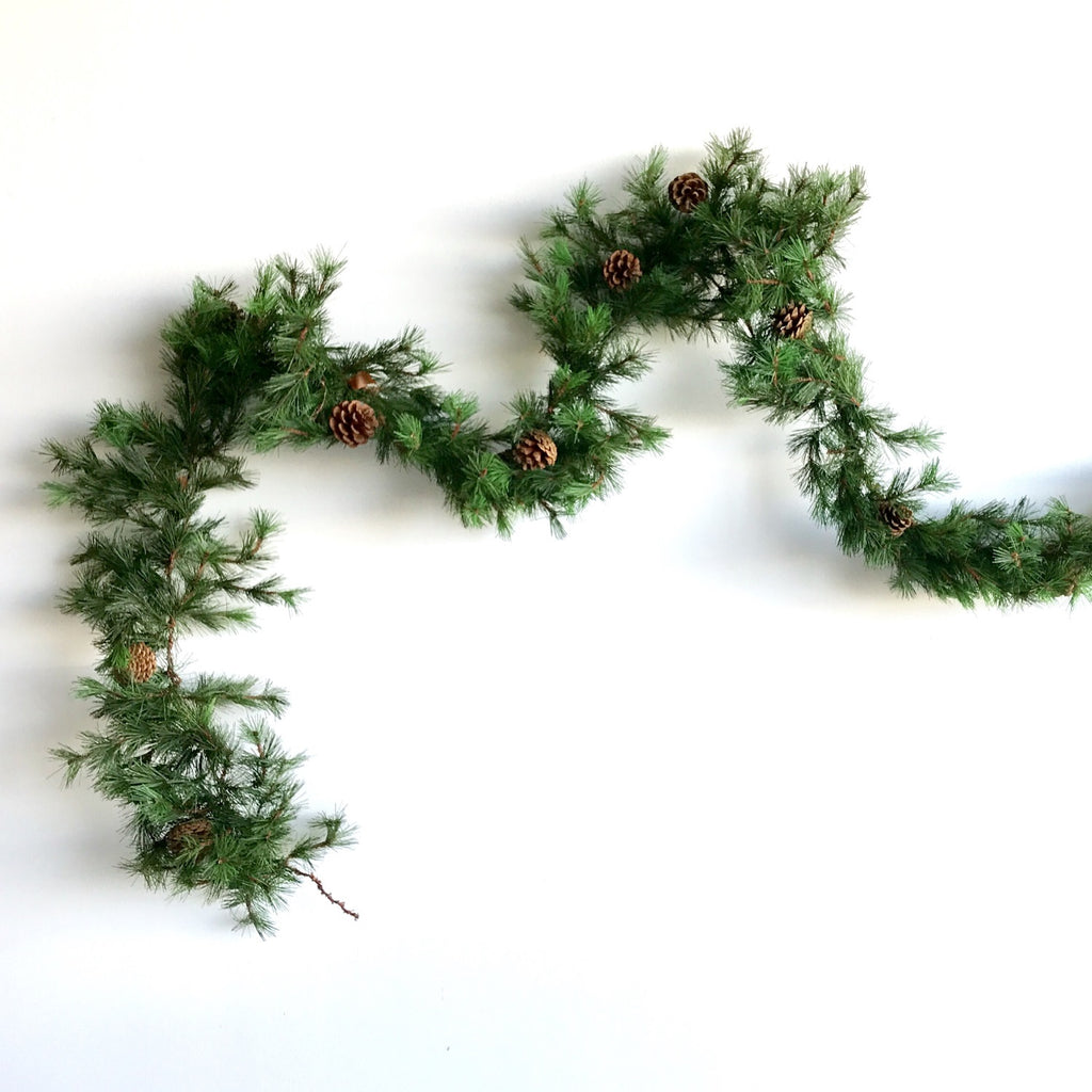 Tahoe Faux Pine Garland | Artificial Garland | Artificial Christmas Garland | Artificial Pine Garland | Artificial Pine Greenery | Artificial Christmas Garland Greenery