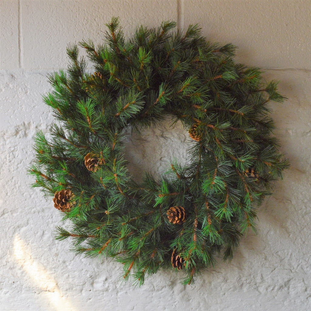 Tahoe Faux Pine Wreath | Pine Wreath Artificial | Green Holiday Wreath Fake | Green Christmas Wreath Fake | Green Holiday Wreath Artificial | Artificial Pine Wreath | Fake Pine Wreath