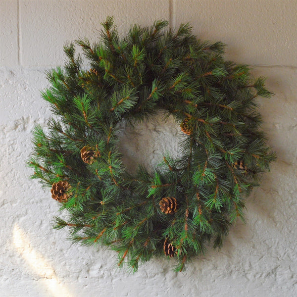 Tahoe Faux Pine Wreath | Artificial Christmas Wreaths | Artificial Green Christmas Wreaths | Holiday Wreaths Artificial | Holiday Wreaths Faux | Pine Wreath Faux